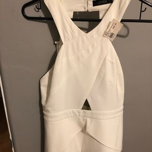 ANGL - White Halter top with back zipper